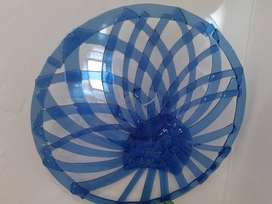 Handcrafted blue Glass Bowl