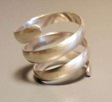 Pierścionek srebrny sprężyna rozmiar 13