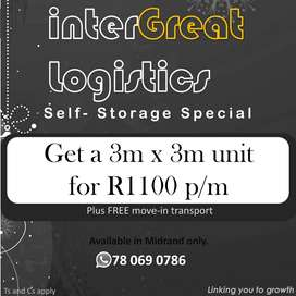 Self-storage units on special
