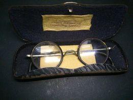 przedwojenne okulary z pokrowcem