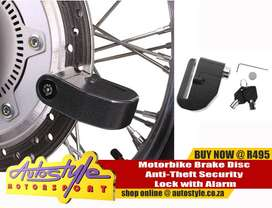 Motorbike Brake Disc Anti-Theft Security Lock with Alarm R495   also