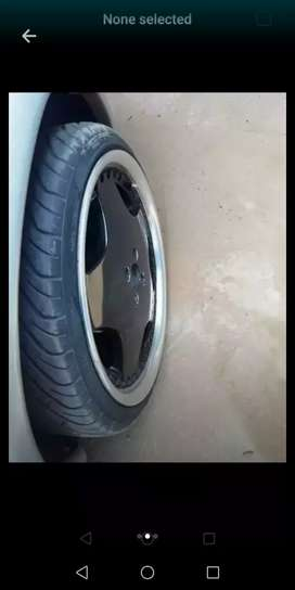 17 inch mag rims with new Tyres 4 hole 100PCD