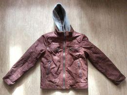 Куртка на мальчика, подростковая, кожзам