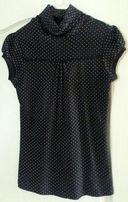 Bluzeczka ze stójką czarna w kropki ORSAY 38