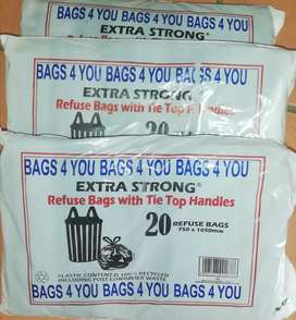 20 Strong Black refuse bags 30 micron. This special won't last forever
