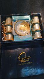 Фарфоровый чайный сервиз с позолотой Jamasen Japan 24 ct Golg Plated