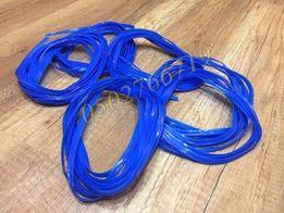 Гибкая декоративная лента полоса с кантом синего цвета длина 5 метров