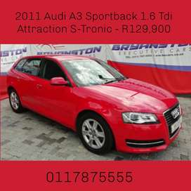 2011 Audi A3 Sportback 1.6 Tdi Attraction S-Tronic - R129,900