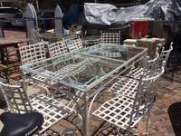 Image of 9 Piece Wrought Iron Patio Suite