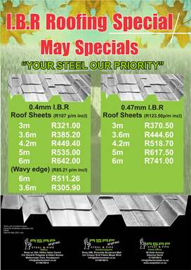 ASAP IBR Roofing Specials