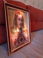 Трехликая икона католическая с подсветкой