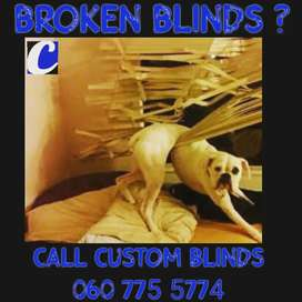 Blind repairs, cleaning and servicing