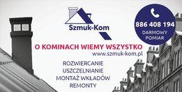 Uszczelnianie (szlamowanie) kominów SZMUK-KOM (Śląsk i inne regiony)