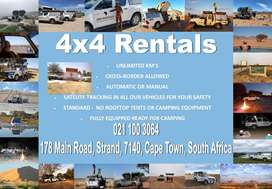 Camper 4x4 Vehicle Hire - Self Drive