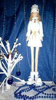 Кукла Снежинка текстильная в стиле тильда