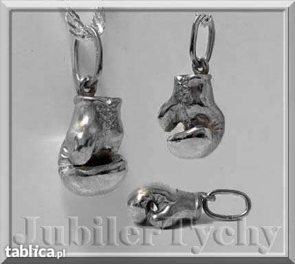 Srebrny Wisiorek Rękawica Bokserska Srebro 925 Boks Jubiler Tychy Tychy - image 1