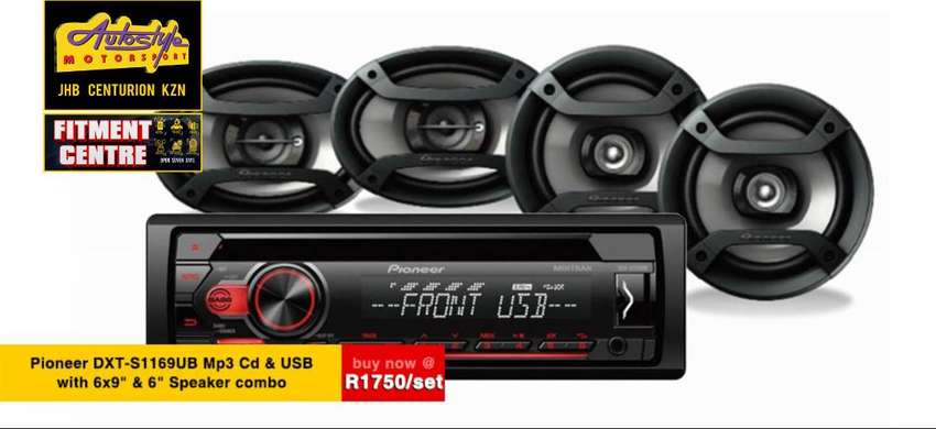 Pioneer DXT-S1169UB Mp3 Cd Front Loader with 6-9 and 6 INCH  Speaker c 0