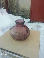 ваза для цветов из цветного стекла СССР