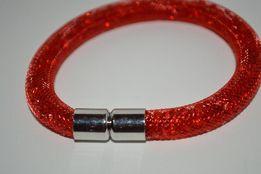 красный браслет звездная пыль сетка на магнитной застежке кристаллы