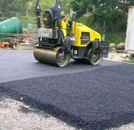 TAR ROADS AND DRIVEWAYS.