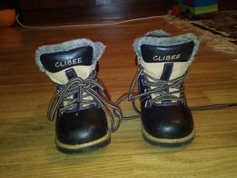 Зимові дитячі сапожки. Фірма CLIBEE, кожа.21 розмір.