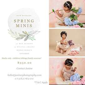 Spring Mid Week Mini Photoshoot special.