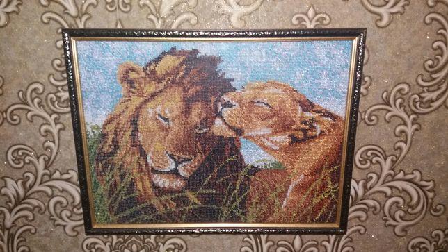 Катина из бисера ручная работа вышивка фото рамка на стену Кривой Рог - изображение 1