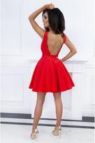 Sukienka czerwona odkryte plecy na Karnawał
