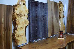 Стол из Слэба натурального дерева, индивидуальный дизайн Ручной работы