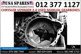 Chrysler Voyager 2.4* 2003-07 used manual gearbox for sale