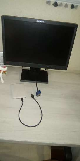 Monitor and external Hard drive