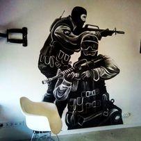 Художник. Роспись стен потолка, фасадов, меню, штендеров