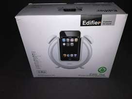 EDIFIER IF200 PLUS BLACK ALARM CLOCK AND SPEAKER SYSTEM FOR IPHONE & I