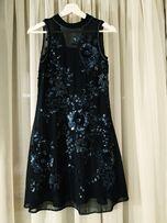 Nowa MISS SELFRIDGE sukienka cekinowa rozm. XXS / 4 / 32