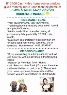 Loans for home owners and Bridging Finance