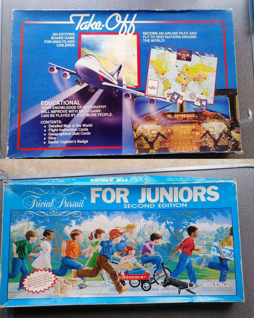 2x Board Games - Take off and Junior Trivial Pursiut (100 for both)