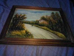 Картина маслом на холсте. Италия Domenico Pinto 47х37 см