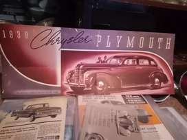 Plymouth 1939, original showroom brosjure