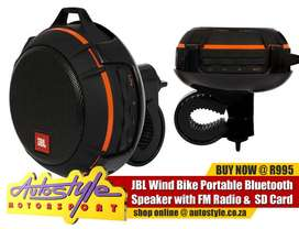 JBL Splash Proof Portable Bluetooth speaker for motorcycles, bicycle