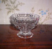 Хрустальная ваза Чаша Рисунок розочки