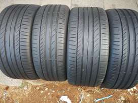 A set of Continental run flat tyres 255/40/18 and 225/45/18