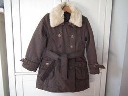 Płaszcz zimowy ocieplany, kurtka zimowa SISLEY rozmiar 104 cm