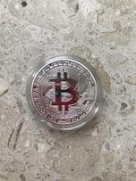 Сувенирная коллекционная монета в виде Биткоина Bitcoin