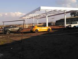 Manufacturer an installation of filling station canopy