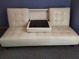 Price reduced!!! Cream White Designer Sleeper Couch - Price reduced!!!