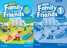 Family and Friends 1 Ukraine :ClassBook + Workbook + CD 2-nd edition