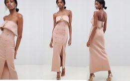 (38) ASOS/Ekskluzywna MAXI suknia wieczorowa/ Odkryte ramiona