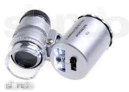 Микроскоп 60х, с подсветкой и с детектором валют