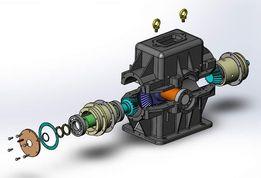 Projekty Zadania PKM Modele 3D Rysunek techniczny 2D CAD SolidWorks