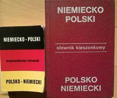 Słowniki polsko/niemieckie - 2 sztuki za 23zł Bezpłatny kurier!